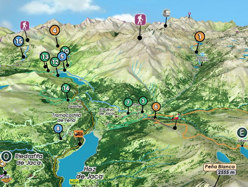 Valle De Tena Mapa.Los Senderos Del Valle De Tena En Una App 3d